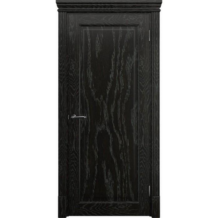 Двери из дуба черные К1