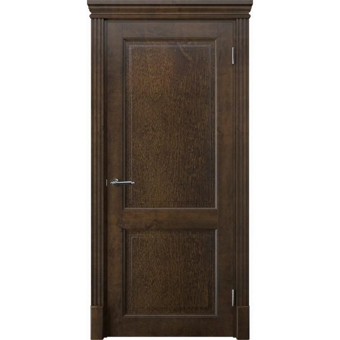 Двери из ольхи коричневые, орех К2