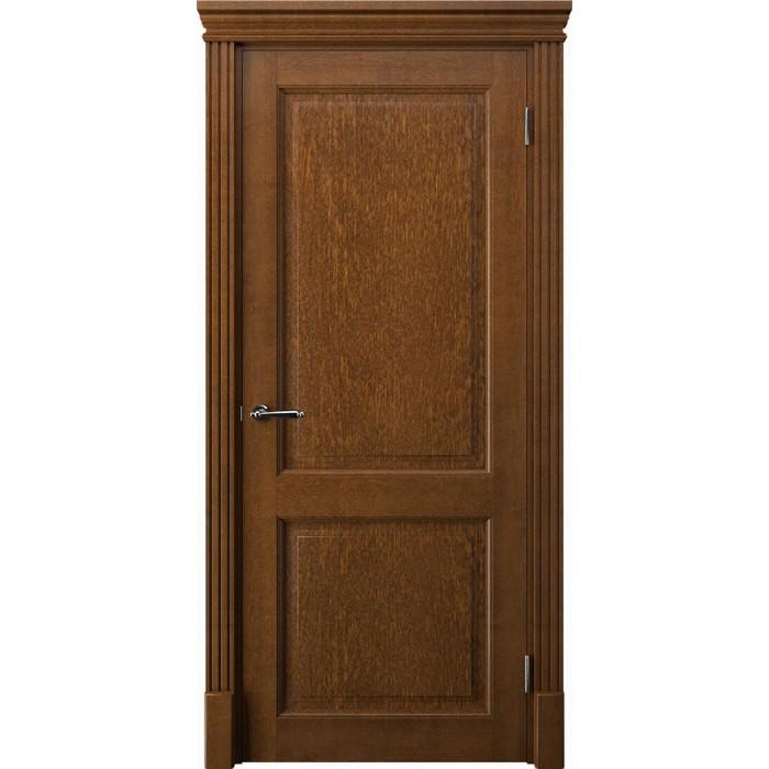 Двери из ольхи коричневые К2