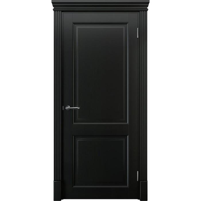Двери из ольхи черные К2