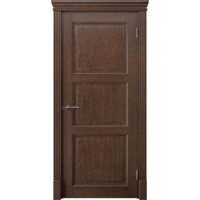 Купить двери из массива ольхи коричневые