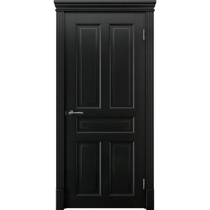 Купить двери из дерева черные