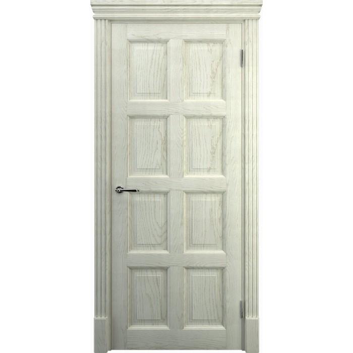 Светлые двери дубовые К8, беленый дуб