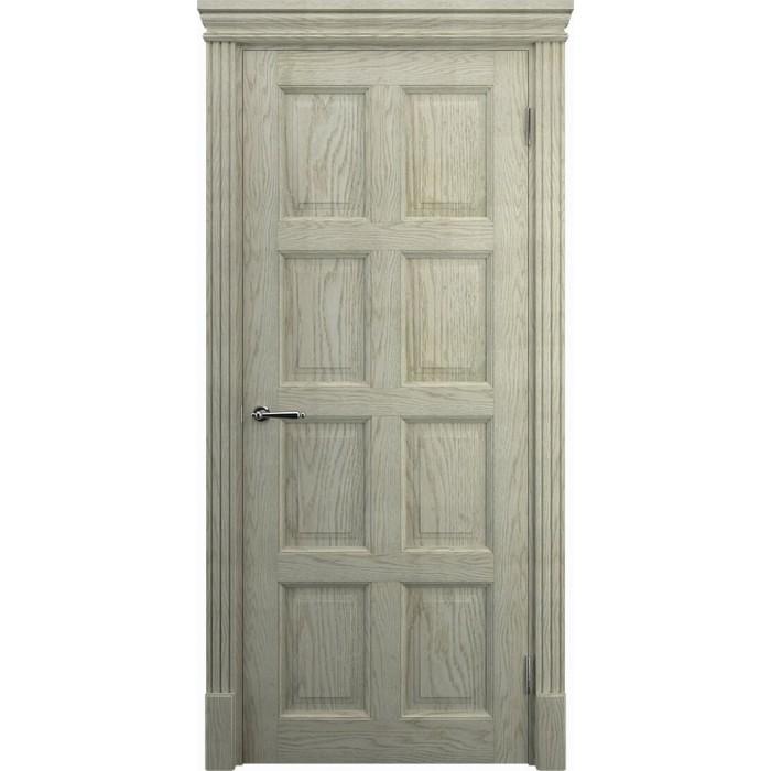 Светлые двери дубовые К8, слоновая кость