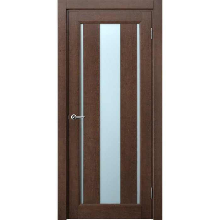 Двери из ольхи коричневые махагон М1