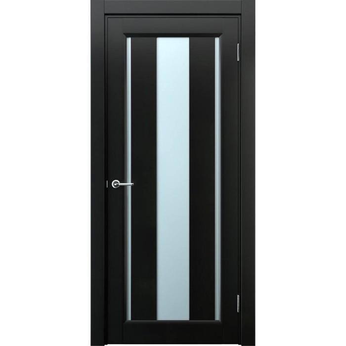Двери из ольхи темная черная М1