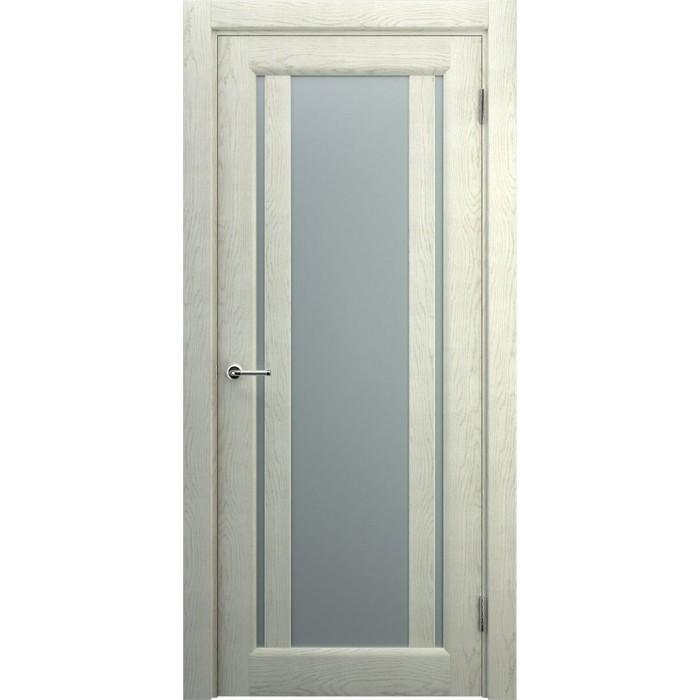 Двери со стеклом светлые беленый дуб
