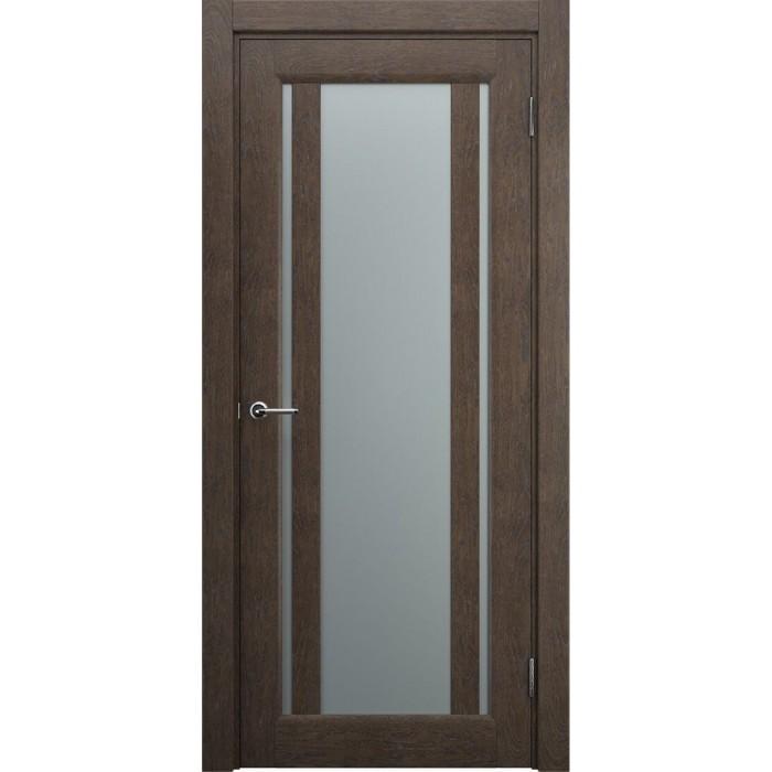 Двери со стеклом коричневые, махагон