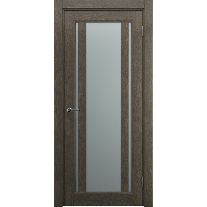 Двери со стеклом коричневые, орех