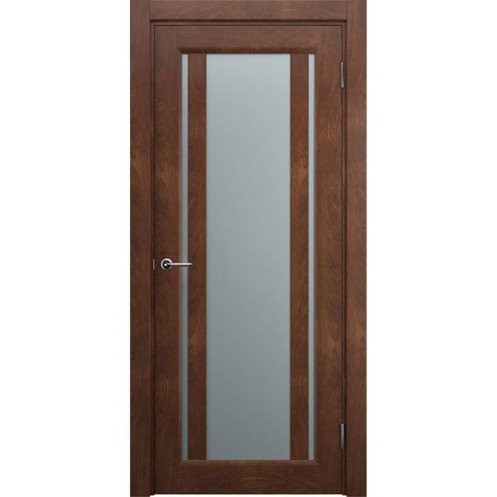 Двери со стеклом коричневые, песок