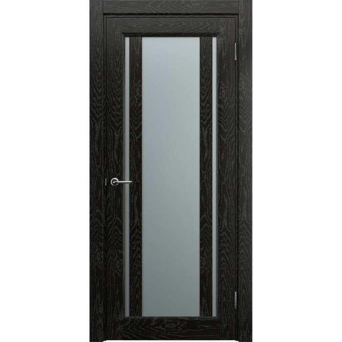 Двери со стеклом темные черные венге