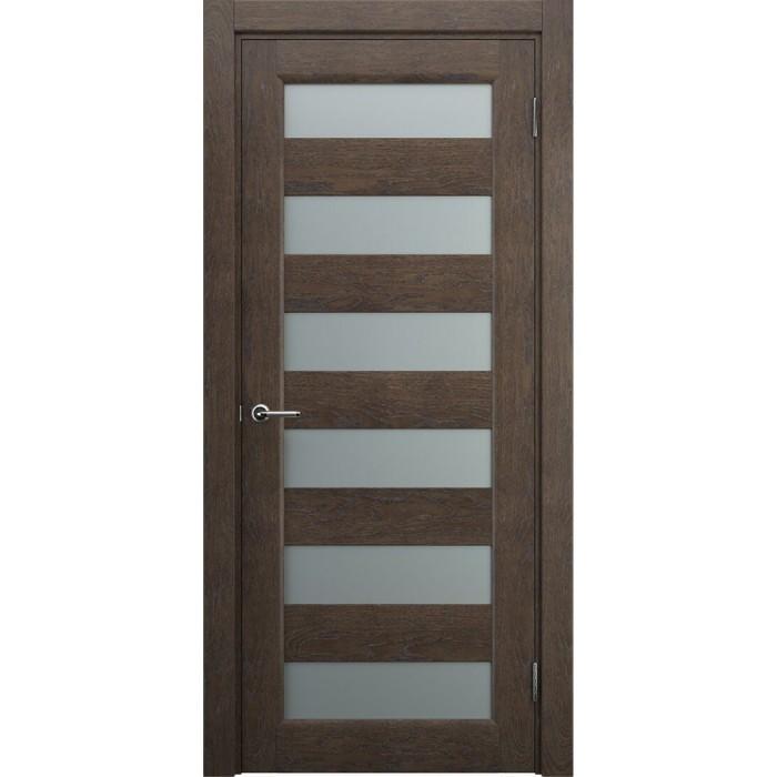Двери деревянные современные коричневые махагон М3