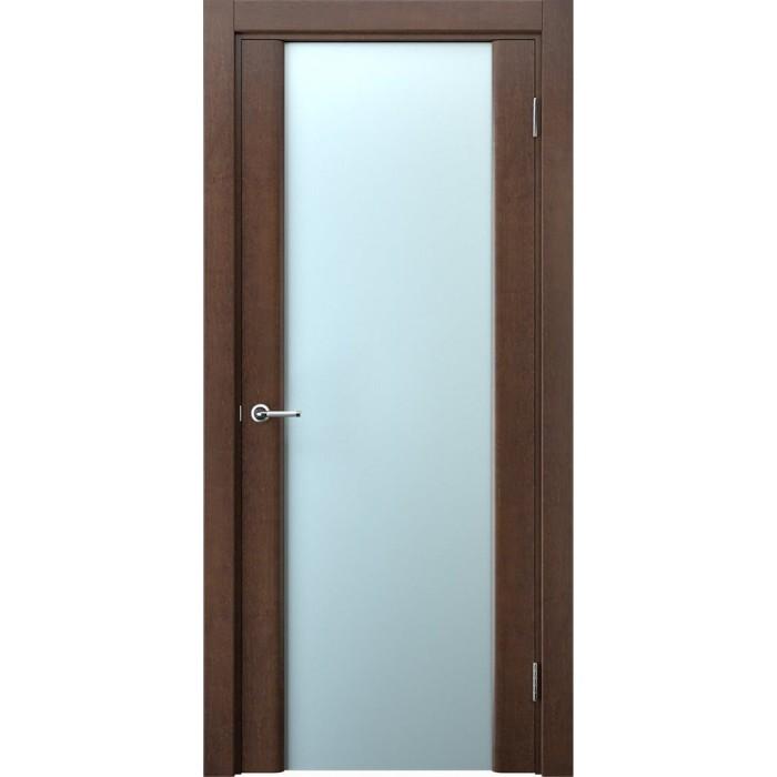 Купить двери из ольхи межкомнатные коричневые махагон в Минске М5