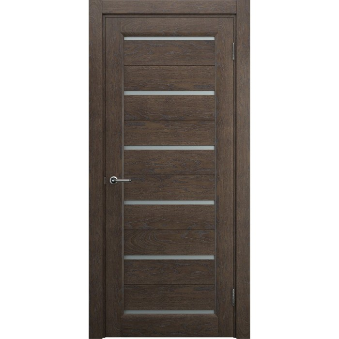 Двери в частный дом коричневые махагон М7