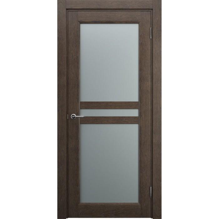 Изготовление дверей из дуба коричнего цвета махагон М8