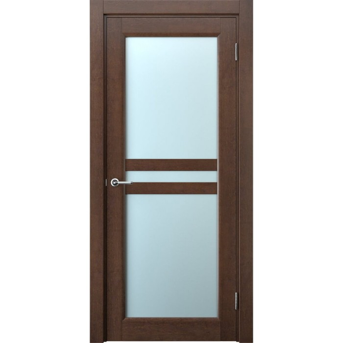 Двери межкомнатные коричневые махагон М8