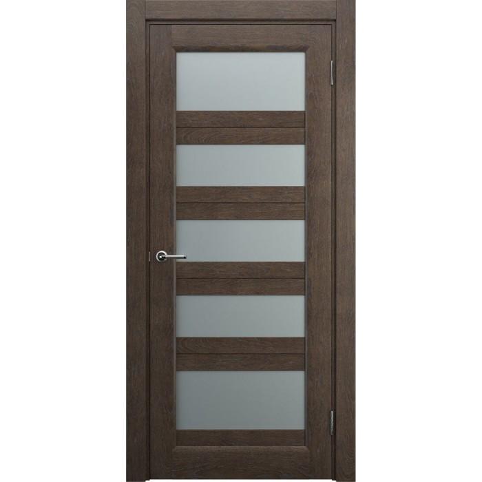 Белорусские двери из массива дуба коричневые махагон М9