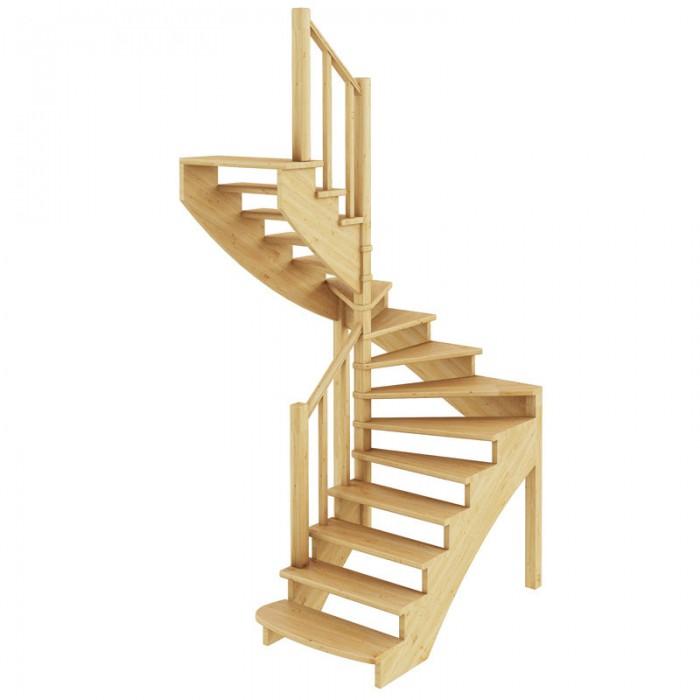 Деревянная лестница покрытая лаком в Мозыре