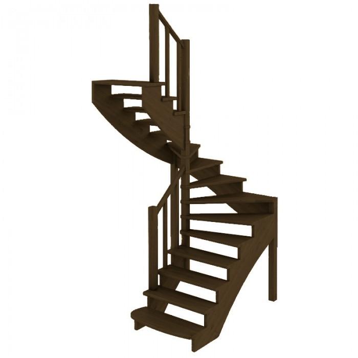 Деревянная лестница темная в Мозыре